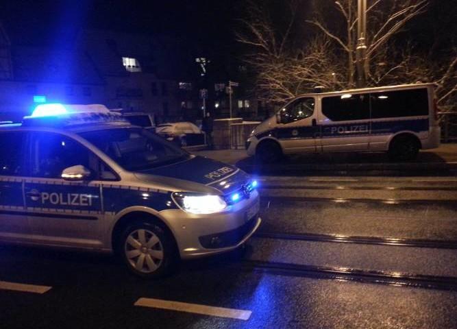 Polizei nachts Jena TNetzbandt