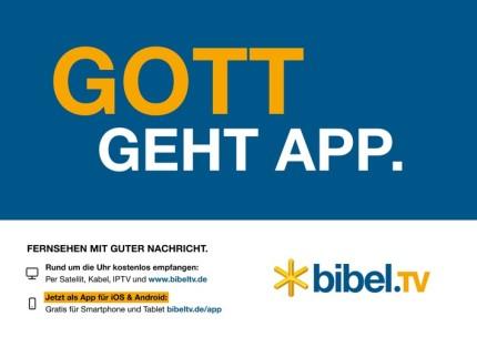 """Gott Geht App"" – Bibel TV wirbt landesweit"