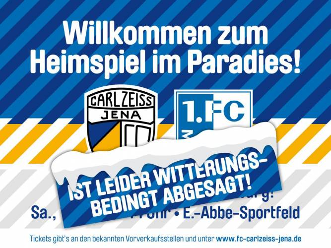 FCC: Spiel gegen 1. FC Magdeburg ist abgesagt