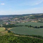 Blick von Kunitzburg auf Kunitz Saale Kläranlage Jena Nord Himmelreich Ölste TNetzbandt thib24.de