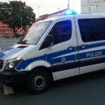 Polizei Blaulicht Demo Jena Damenviertel TNetzbandt thib24.de