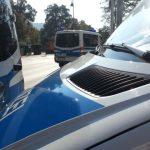 Polizei Fahrzeuge Sperre TNetzbandt thib24.de