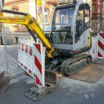 Westbahnhof Bagger Straßenbau TNetzbandt thib24