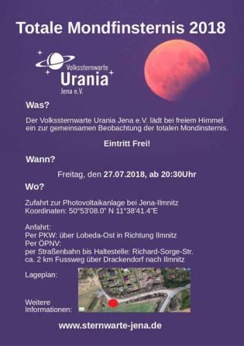 Jena: Beobachten Sie die längste Mondfinsternis des 21. Jahrhunderts