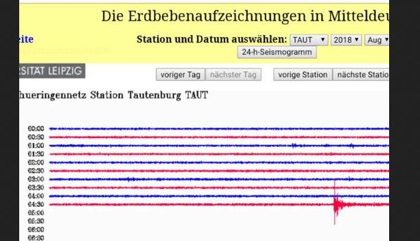 Erdbeben in Mitteldeutschland und auch in Thüringen