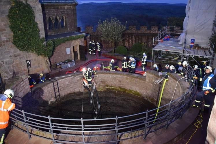 Eisenach: Katastrophenschutzübung auf der Wartburg