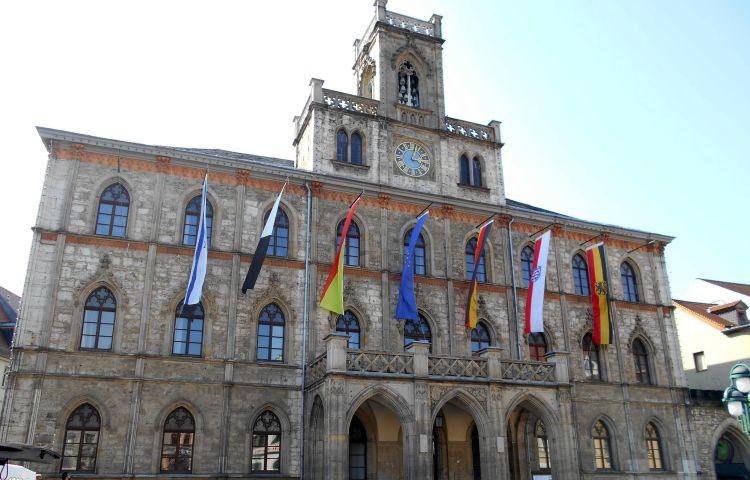 Weimar: Sanierung des historischen Rathauses bis Sommer 2021