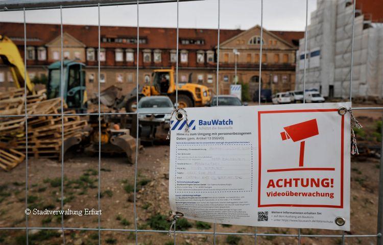 Erfurt: Baustelle auf dem Petersberg ist alarmgeschützt