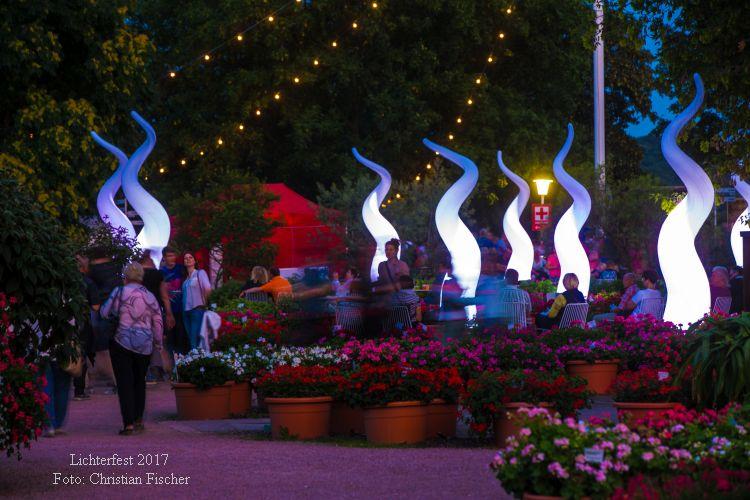 Erfurt: Lichterfest im egapark