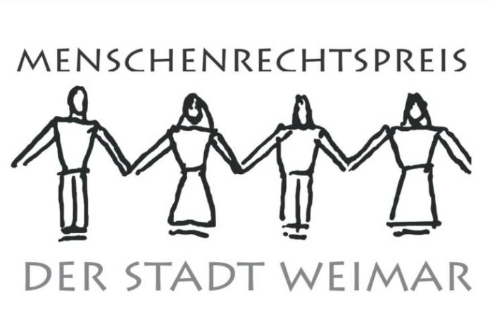 Logo des Menschenrechtspreises der Stadt Weimar (Quelle: Stadt Weimar)