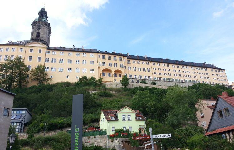 Rudolstadt: Brand im Schlosshof der Heidecksburg