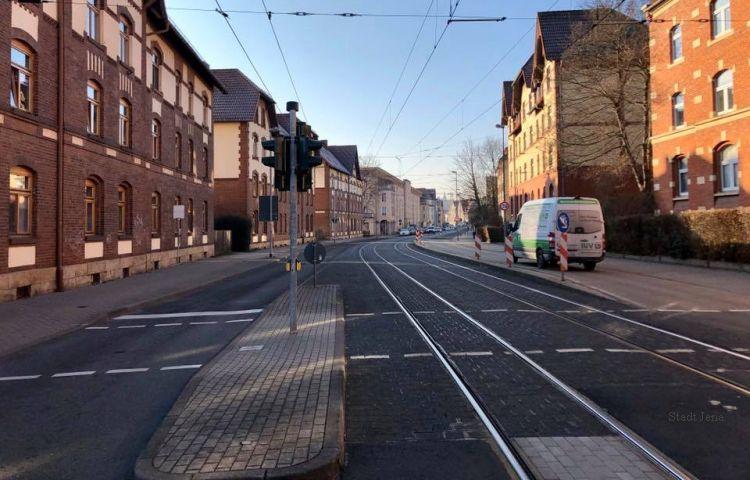 Jena: Sperrung der Dornburger Straße für Kfz