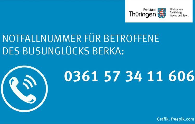 Berka v.d. Hainich: Notfallnummer für Betroffene des Busunglücks eingerichtet