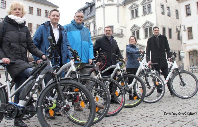 Gera: Sechs Elektro-Fahrräder für die Stadtverwaltung