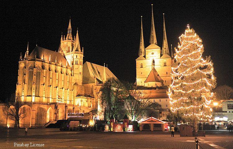 Erfurt: Weihnachtsbaum erstrahlt – Märchenwald ist abgesagt