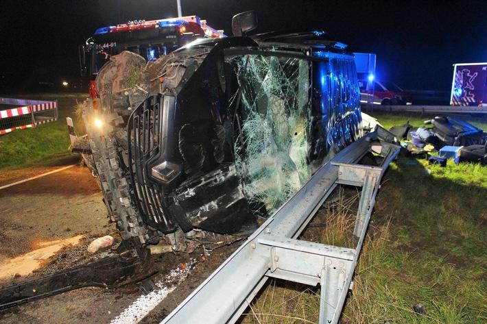 Autobahn A 4 – schwerer Verkehrsunfall am Sonntagabend