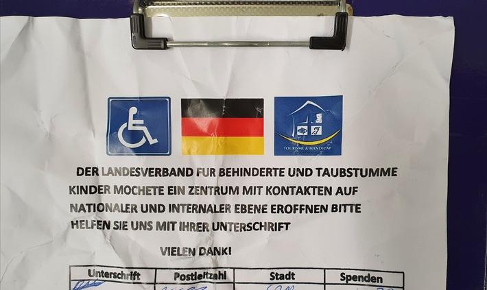 Erfurt: falsche Spendensammler gefasst, Geschädigte gesucht