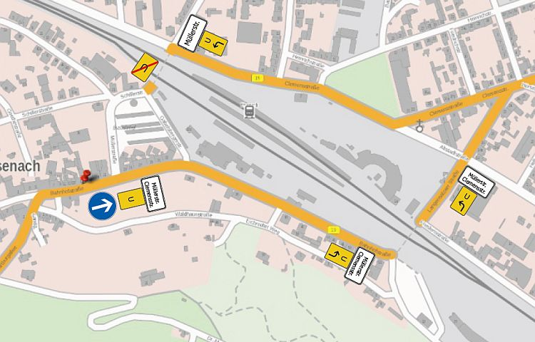 Eisenach: halbseitige Sperrung nach Havarie