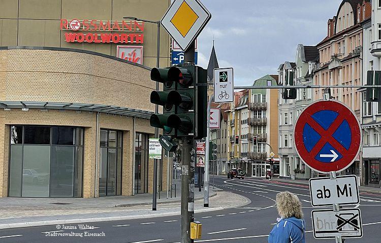 Eisenach: 1. Grüner Pfeil für Radfahrer