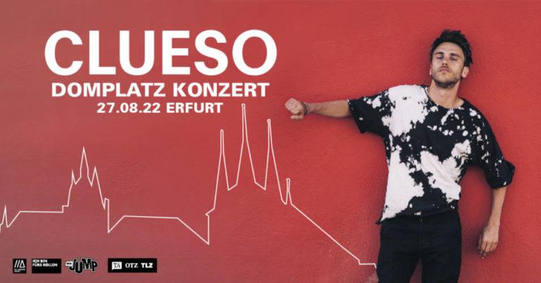 Clueso spielt 2022 auf dem Erfurter Domplatz