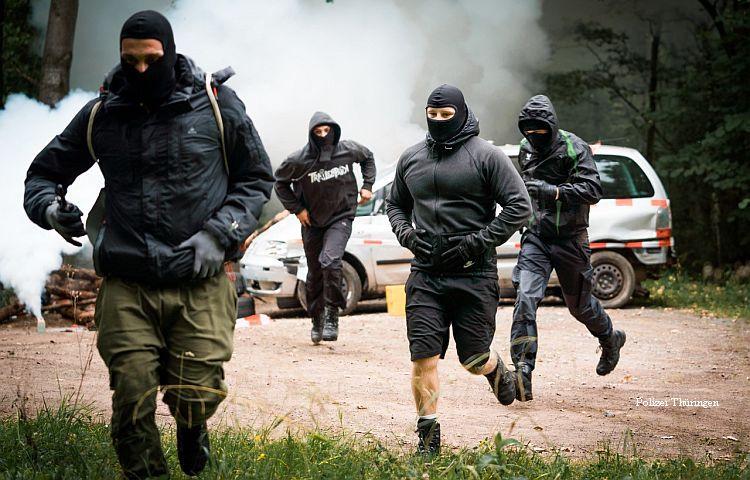 Ohrdruf: Übung der Thüringer Polizei