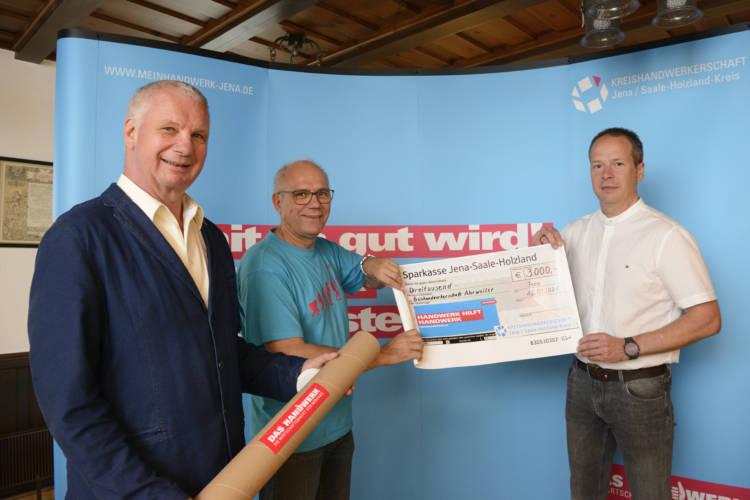 Kreishandwerkerschaft Jena/Saale-Holzland-Kreis spendet 3.000 Euro für Kollegen der Katastrophenregion Ahr