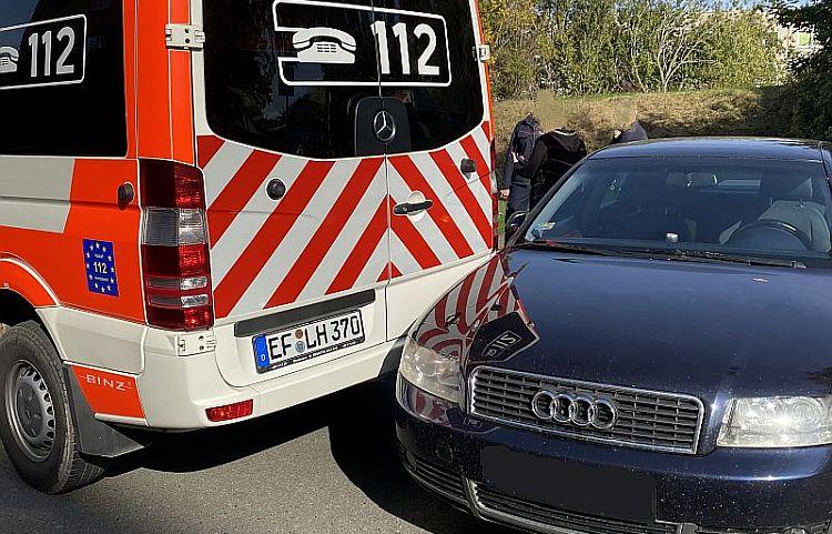 Erfurt: Audi-Fahrer rammt Feuerwehrfahrzeug